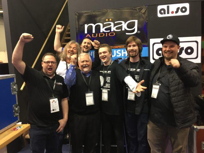 Akustikstoff.com @ Musikmesse 2027 – The guys from Mäag Audio, Professional Media Solutions, and Akustikstoff.com