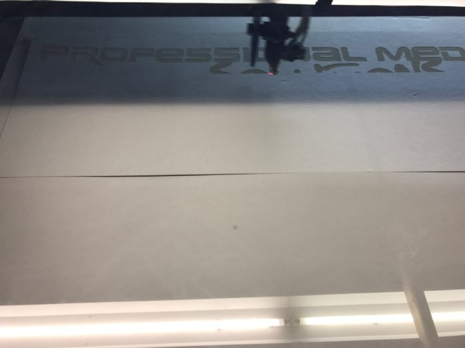 Akustikstoff.com @ Musikmesse 2027 – Production of the signs for our booth using our laser