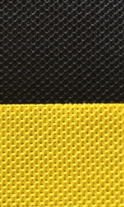 Contrast of black and yellow with Acoustic Cloth from Akustikstoff.com