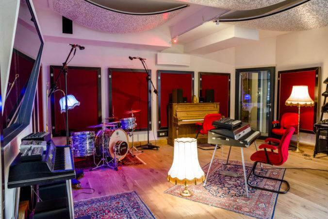 Akustikstoff im Recordingraum