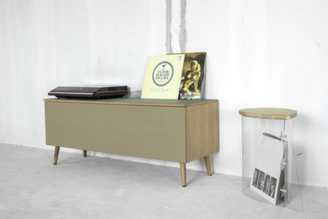 AV furniture from Hifimøbler.dk, with speaker cloth from Akustikstoff.com