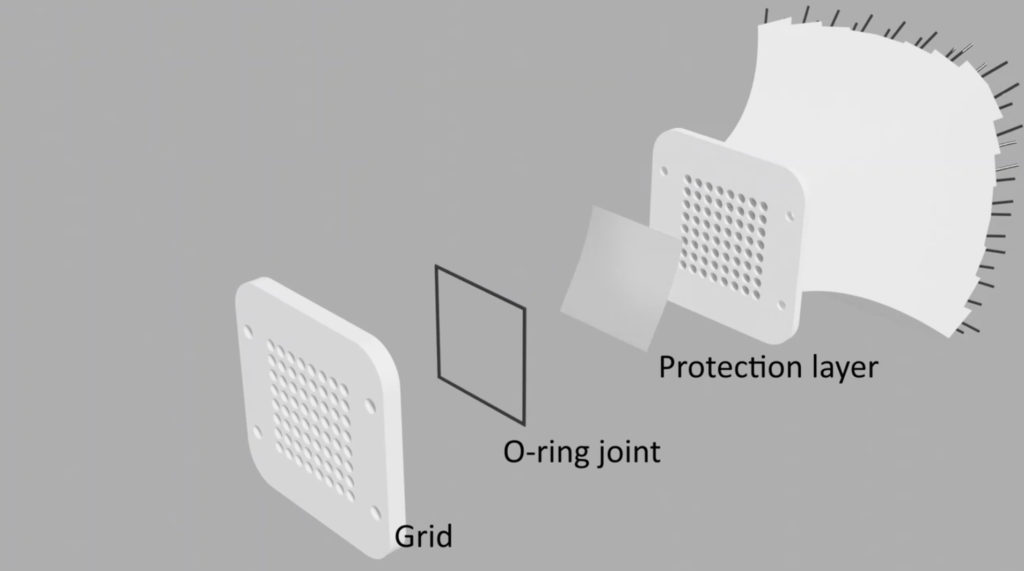 phased arrays for air-coupled ultrasonic applications using Akustikstoff.com's 2.0 fabric as a protection layer